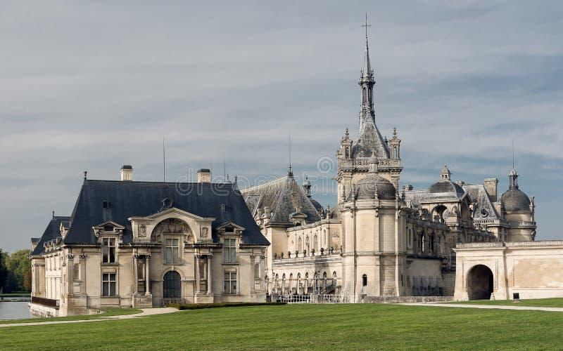 Castillo francés de Chantilly foto de archivo libre de regalías