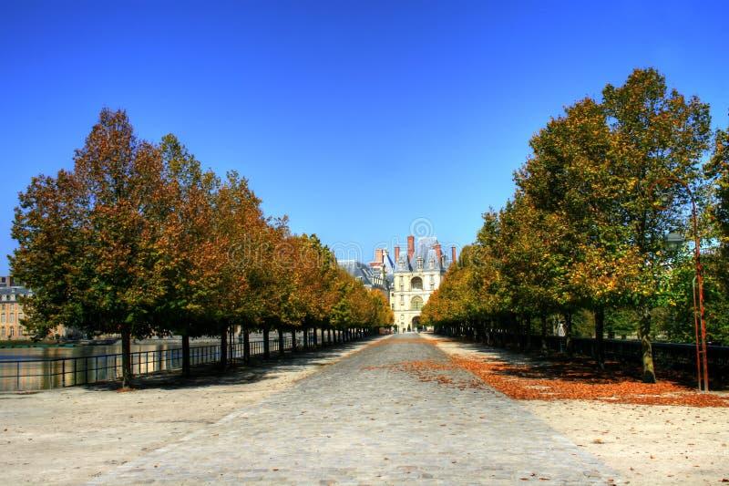 Castillo francés de Fontainebleau, Francia fotos de archivo