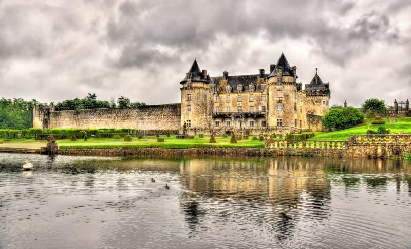 Castillo francés de La Roche Courbon en Charente-marítimo fotos de archivo libres de regalías