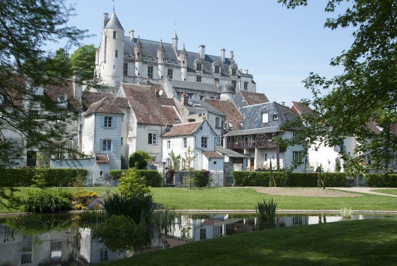 Castillo francés de Loches imagen de archivo libre de regalías