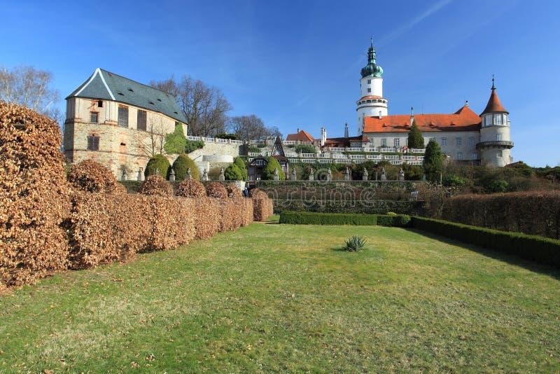 Castillo francés de Nove Mesto nad Metuji imagen de archivo
