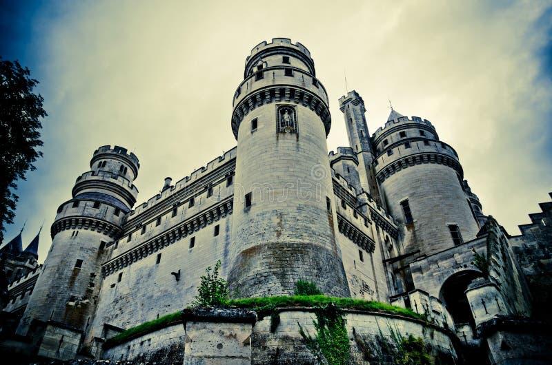 Castillo francés de pierrefonds imágenes de archivo libres de regalías
