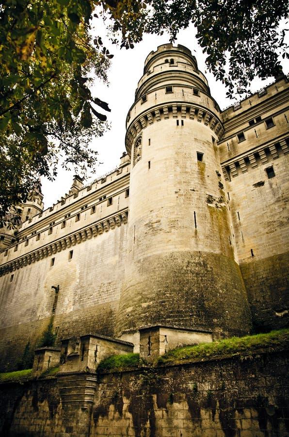 Castillo francés de pierrefonds imagen de archivo