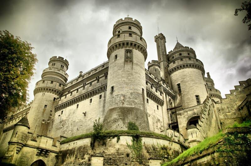 Castillo francés de pierrefonds fotografía de archivo