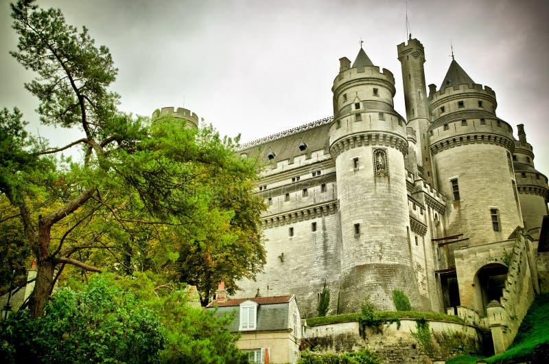 Castillo francés de pierrefonds fotografía de archivo libre de regalías