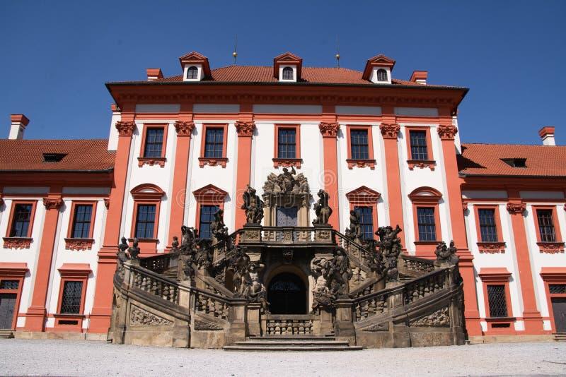 Castillo francés de Troja en Praga foto de archivo