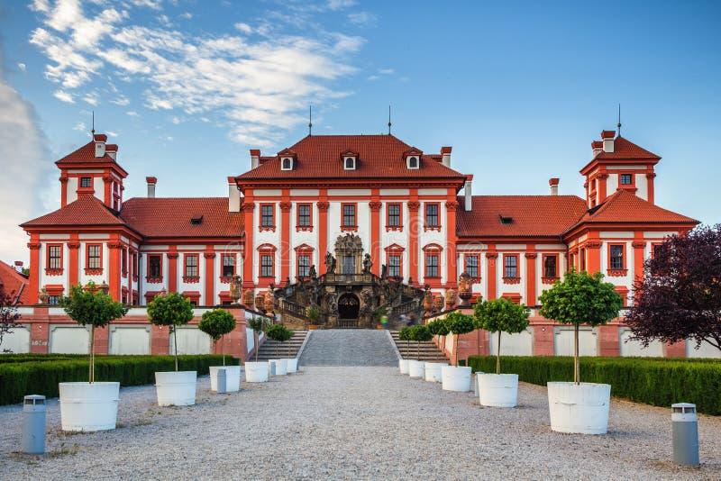 Castillo francés de Troja praga República Checa imagen de archivo libre de regalías