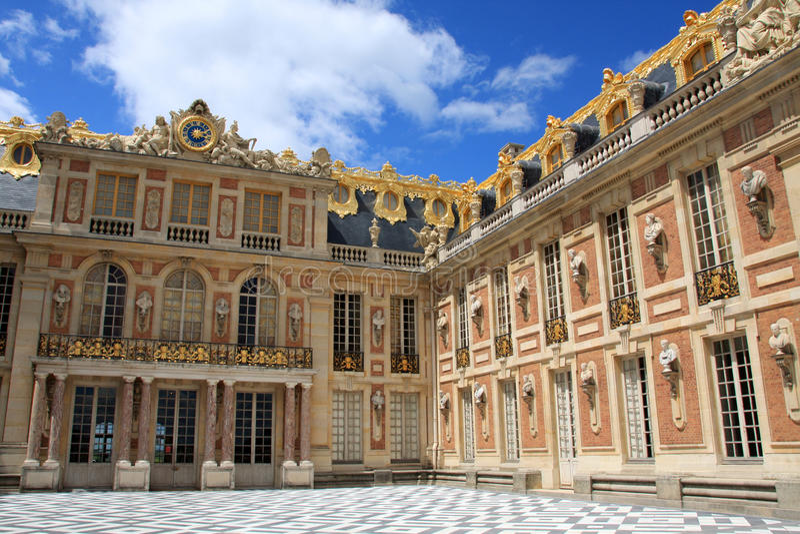 Castillo francés de Versalles foto de archivo