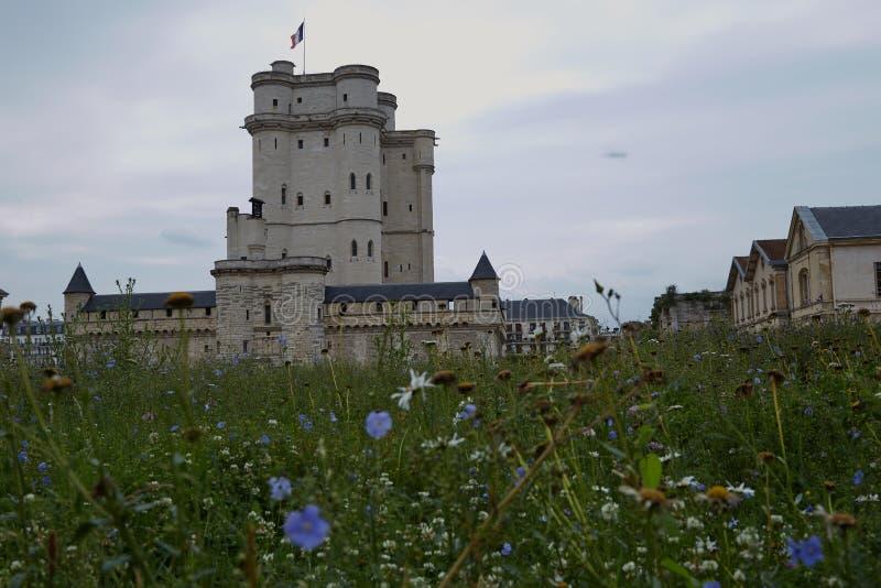 Castillo francés de vincennes cerca de París imagen de archivo libre de regalías