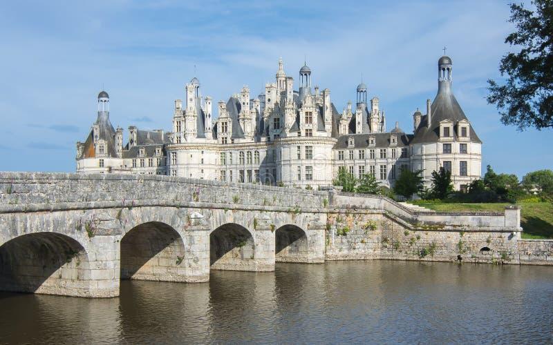 Castillo francés del castillo de Chambord en el valle del Loira, Francia imagen de archivo libre de regalías