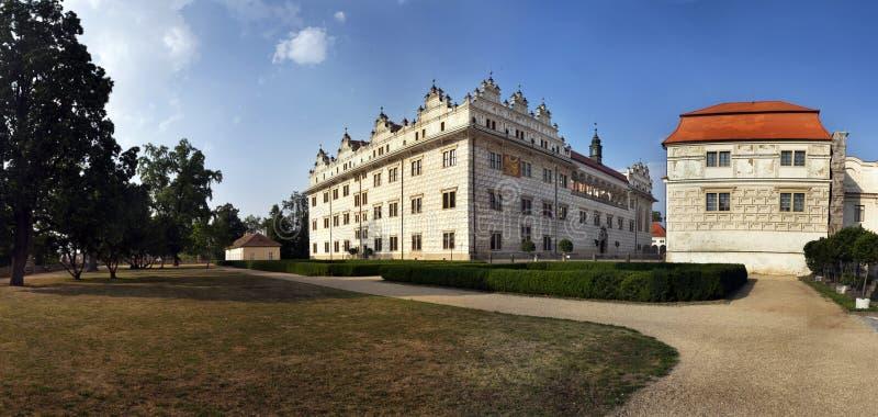 Castillo francés del renacimiento de Litomysl fotografía de archivo libre de regalías