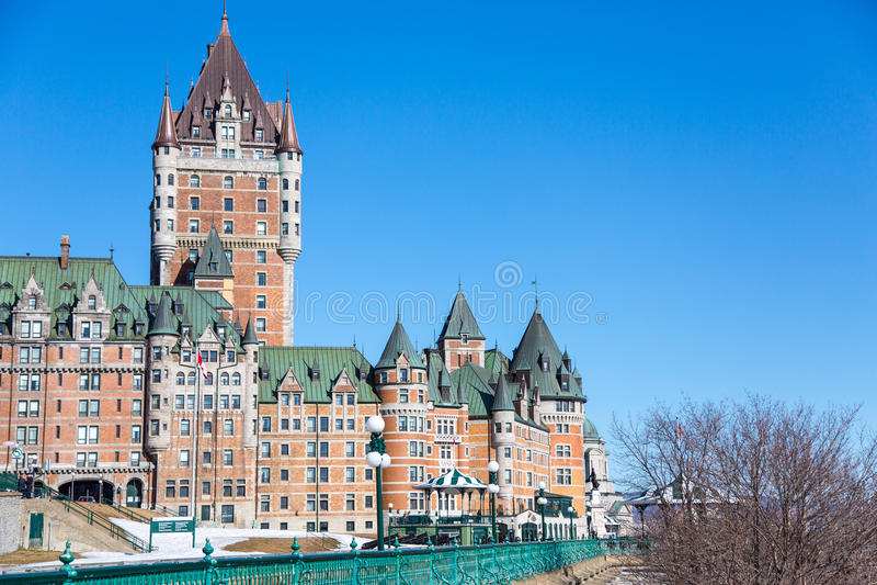 Castillo francés Frontenac, la ciudad de Quebec, Canadá fotografía de archivo libre de regalías