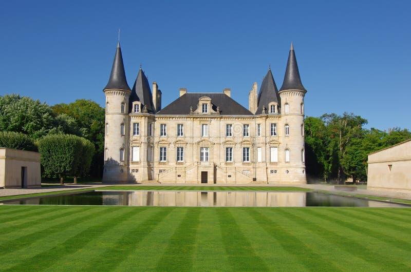 Castillo francés Pichon Longueville fotografía de archivo libre de regalías
