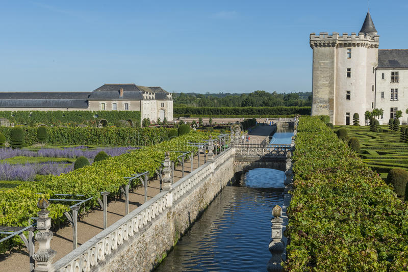Download Castillo francés Villandry imagen de archivo. Imagen de cielo - 44853449