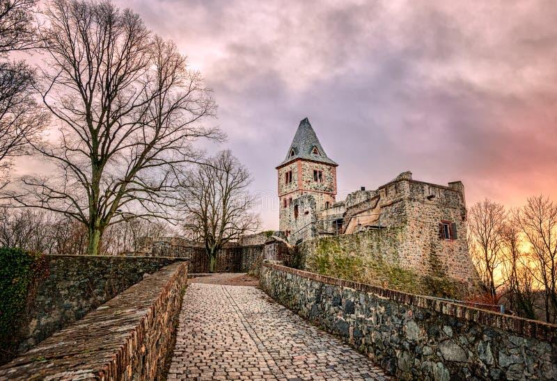 Castillo Frankenstein, Darmstad, Alemania imagen de archivo