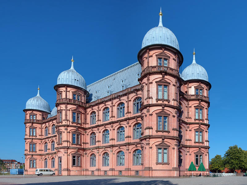 Castillo Gottesaue en Karlsruhe, Alemania imagenes de archivo