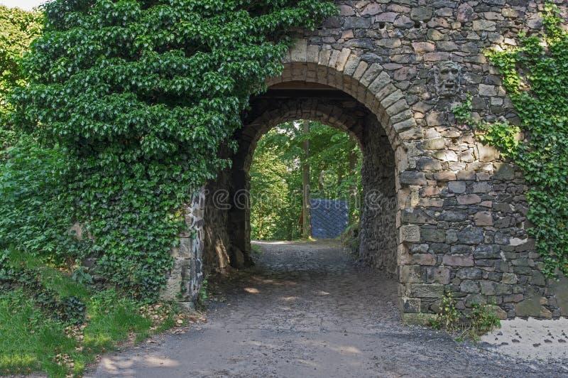 Castillo Grodziec - puerta imagenes de archivo