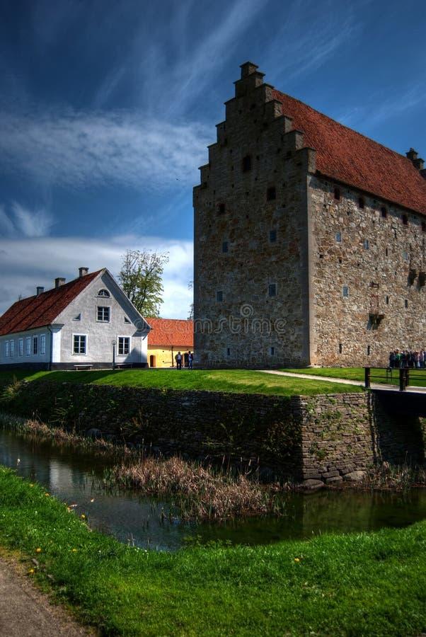Castillo HDR 02 de Glimmingehus fotografía de archivo