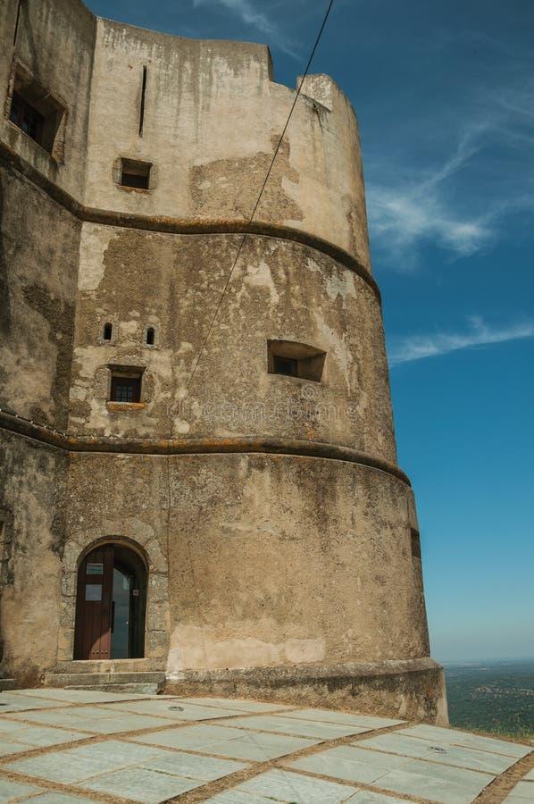 Castillo hecho en el estilo de Manueline en Evoramonte imagen de archivo libre de regalías