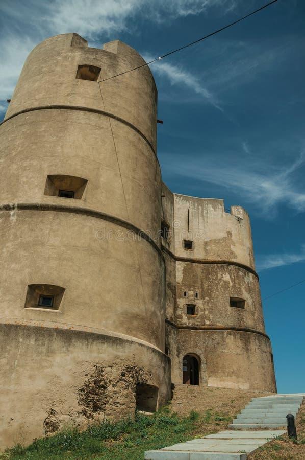 Castillo hecho en el estilo de Manueline en Evoramonte fotografía de archivo libre de regalías
