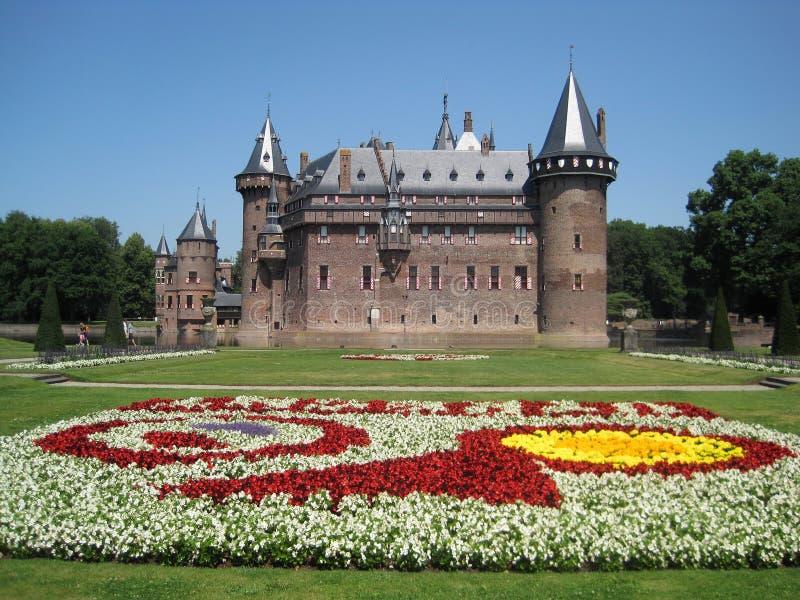 Castillo hermoso De Haar, Utrecht, Países Bajos imagen de archivo