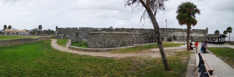 Castillo histórico de San Marcos em St Augustine o 23 de outubro, Florida, EUA imagens de stock