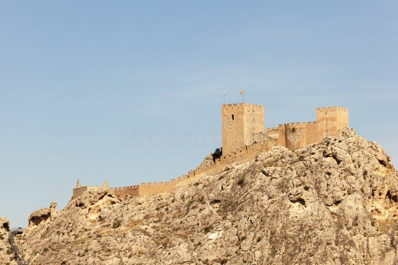 Castillo histórico del saxofón Provincia de Alicante, España fotos de archivo libres de regalías