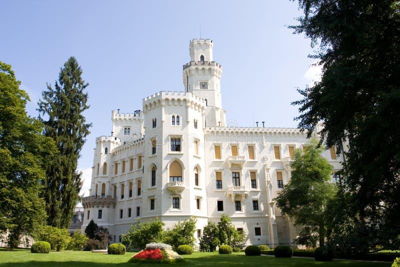 Castillo Hluboka nad Vltavou fotografía de archivo