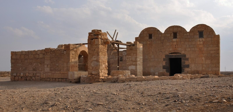 Castillo II. del desierto de Quseir Amra. fotografía de archivo libre de regalías