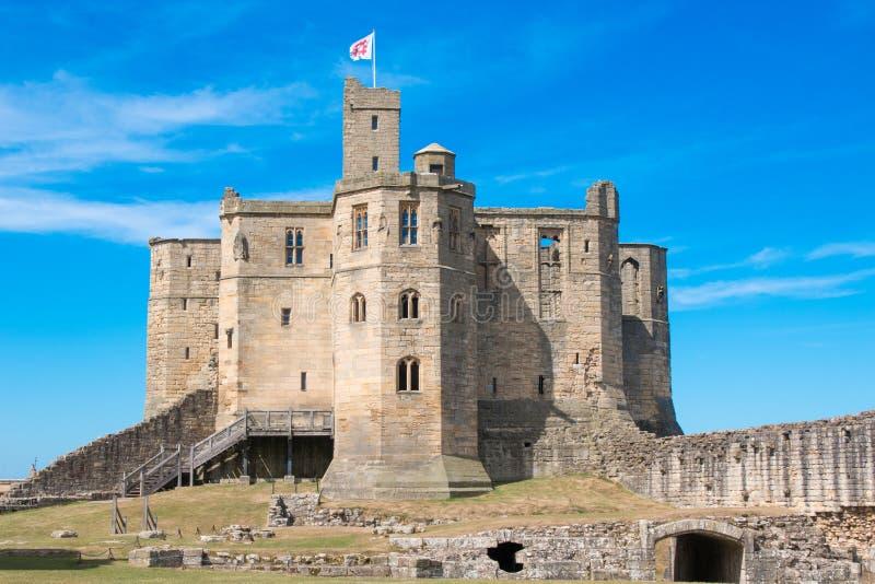 Castillo Inglaterra Reino Unido Europa de Warkworth imagen de archivo libre de regalías