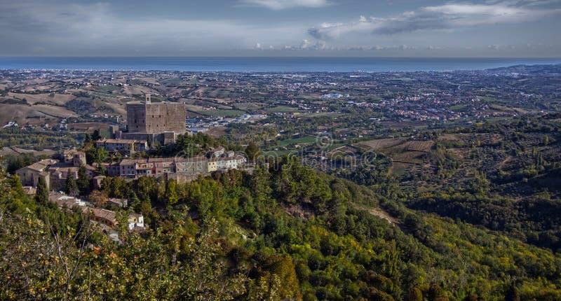 Castillo italiano fotografía de archivo libre de regalías