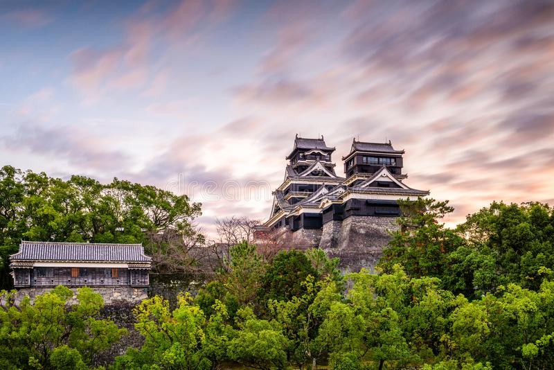 Castillo Japón de Kumamoto foto de archivo libre de regalías