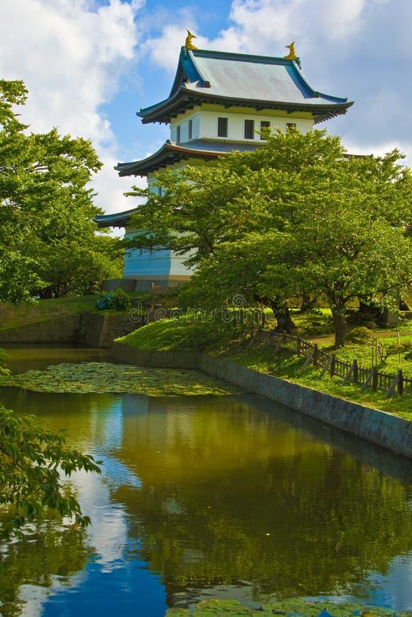 Castillo japonés, Matsumae, Hokkaido fotos de archivo