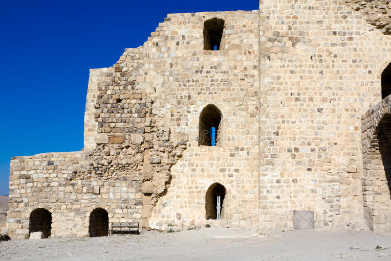 Castillo Karak - Jordania fotografía de archivo