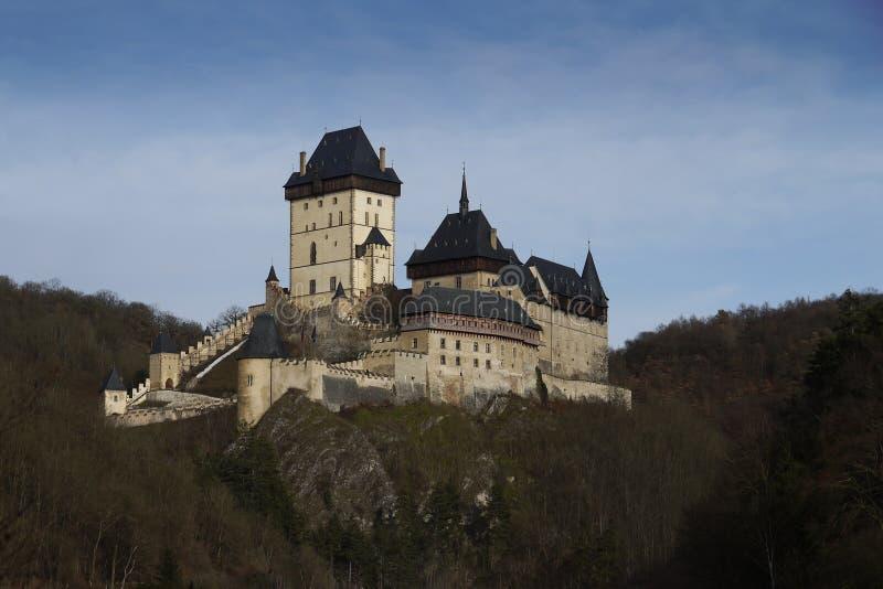 Castillo-Karlstejn-Señal vieja fotografía de archivo libre de regalías
