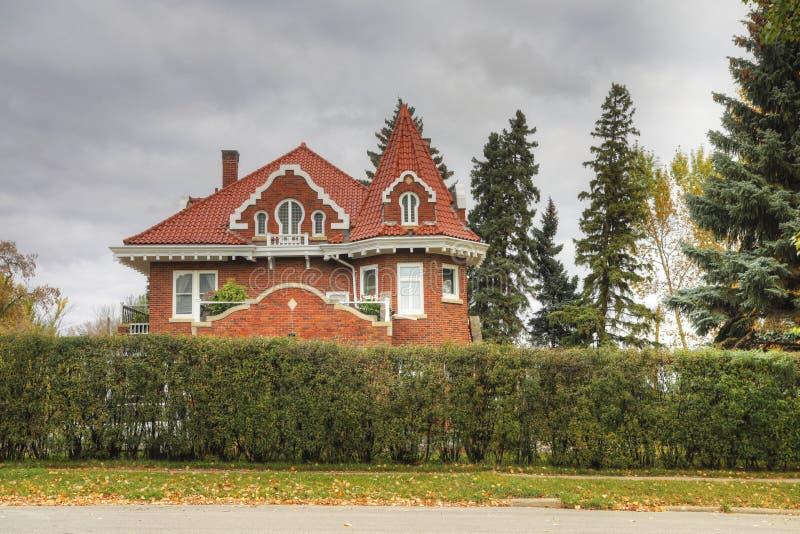 Castillo Keyhole en Prince Albert, Saskatchewan, Canadá fotos de archivo