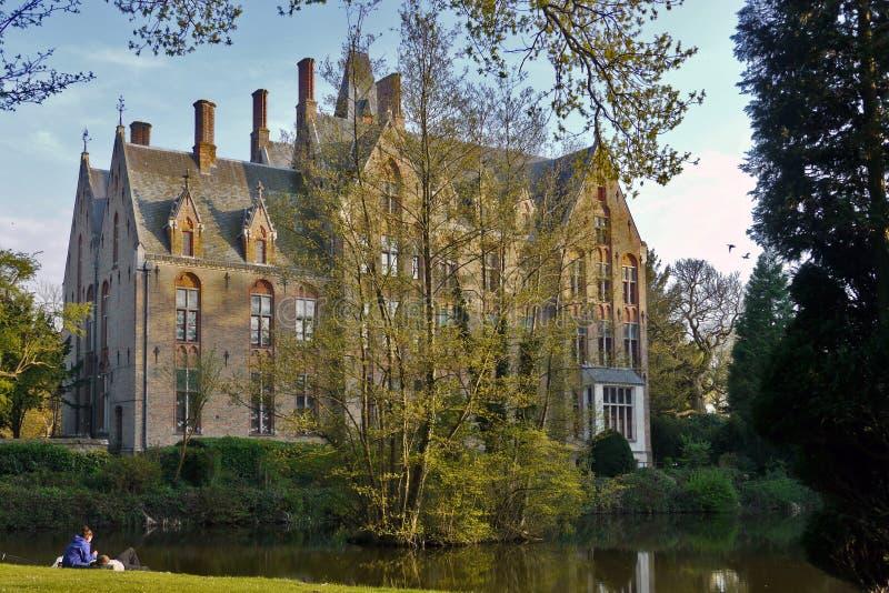 Castillo Loppem en Brujas, Flandes Oeste, Bélgica imagen de archivo libre de regalías
