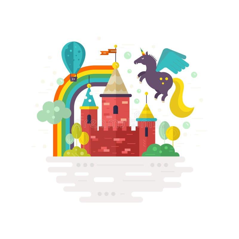 Castillo mágico stock de ilustración