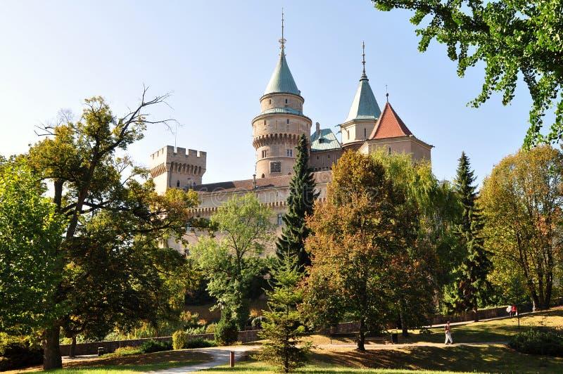 Castillo magnífico Bojnice en Eslovaquia foto de archivo