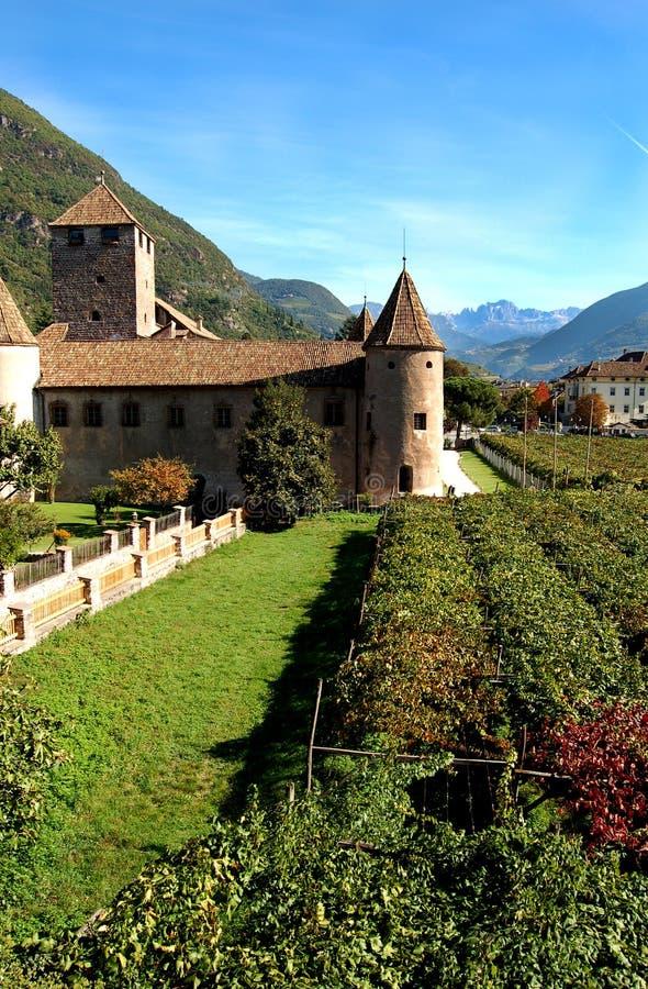 Castillo Mareccio del â de Bolzano, Italia imagen de archivo libre de regalías