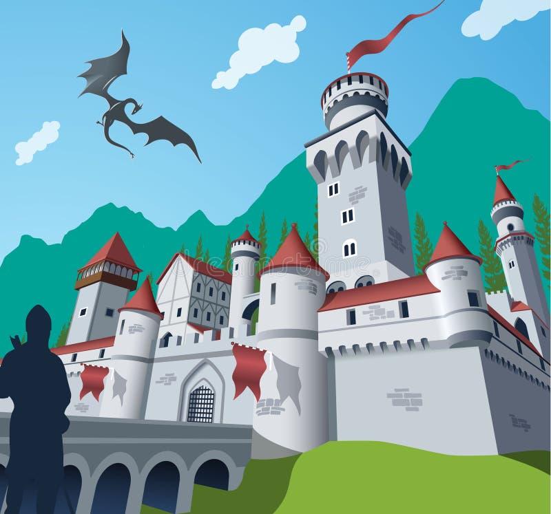 Castillo medieval ilustración del vector
