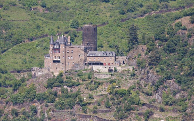 Castillo medieval - Burg Katz foto de archivo