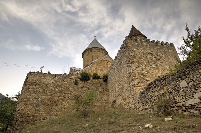 Castillo medieval de Ananuri imágenes de archivo libres de regalías