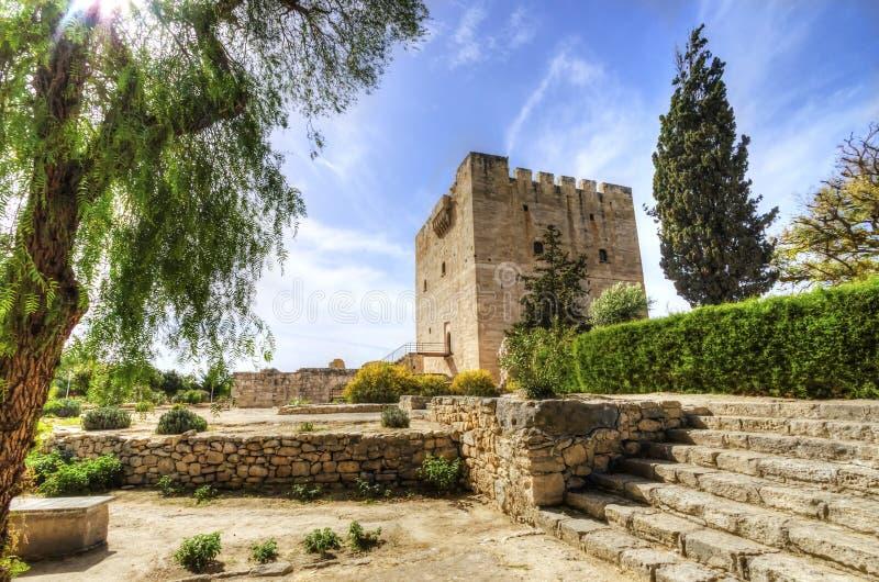 Castillo medieval de Kolossi, Limassol, Chipre imagenes de archivo