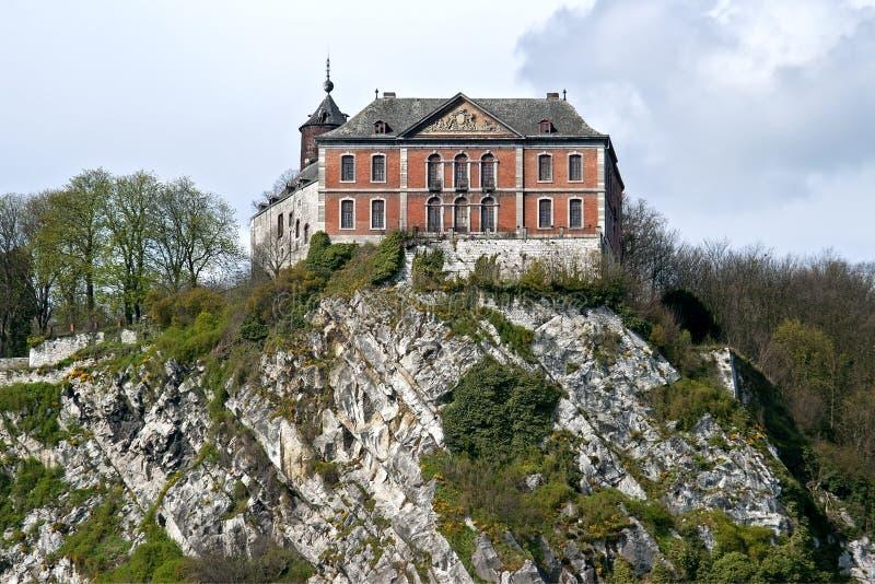 Castillo medieval de más sofocante, Flemalle Haute, Bélgica imagen de archivo