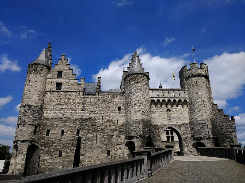 Castillo medieval de Steen, Amberes, B?lgica imagen de archivo