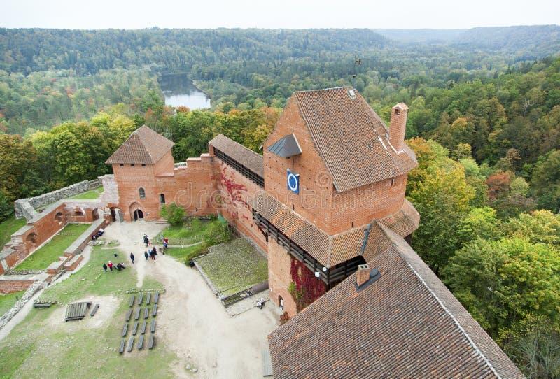 Castillo medieval del ` s de Letonia imagen de archivo
