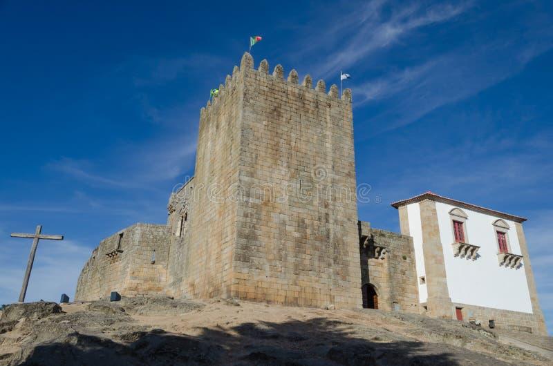 Castillo medieval distrito de Belmonte, Guarda portugal imagen de archivo