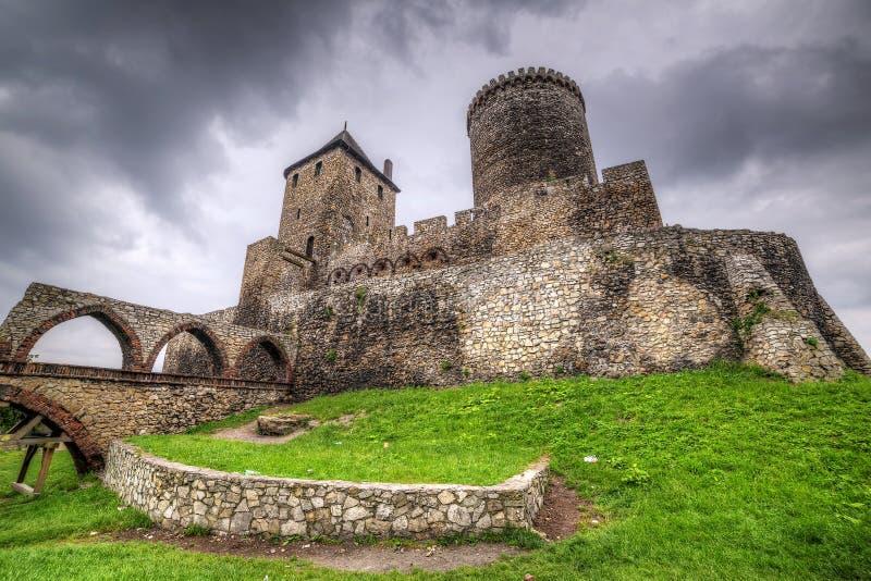 Castillo medieval en Bedzin fotos de archivo