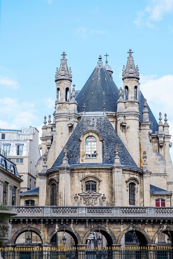 Castillo medieval en el centro de París imagen de archivo